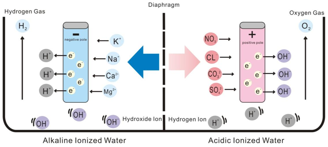 Ionized water chart